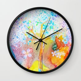 Tree of life painting Wall Clock
