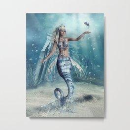 Fantasy Mermaid Metal Print