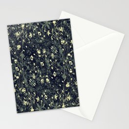 Dark Floral Collage Pattern Stationery Cards