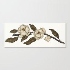 Magnolias Branch Canvas Print