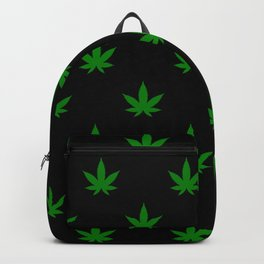 weed leaf print pattern Backpack
