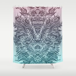 Soft Lines(P&B) Shower Curtain