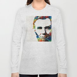 Abraham Lincoln Art - Colorful Abe - By Sharon Cummings Long Sleeve T-shirt