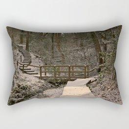 Snowy Ironbridge Gorge Rectangular Pillow