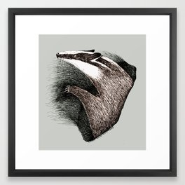 Badger Medicine Framed Art Print