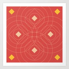SOUND! Circle Square Pattern (Girl) Art Print