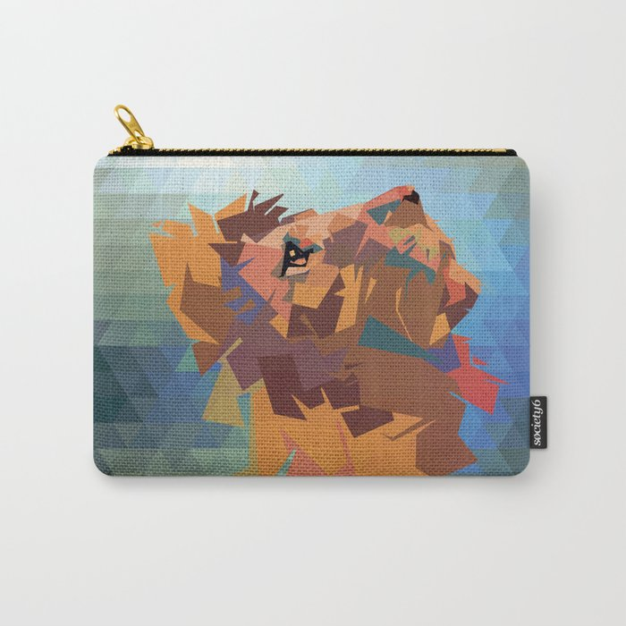 Lion's head - Geometry Carry-All Pouch