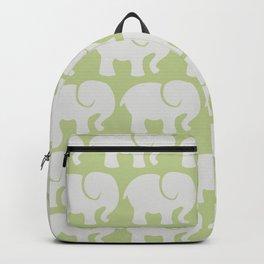 Troop Of Elephants (Elephant Pattern) - Gray Green Backpack