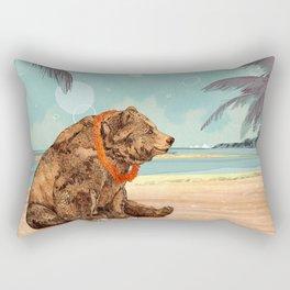 Beach Bear Rectangular Pillow