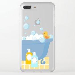 Bubble Bath Tub Clear iPhone Case