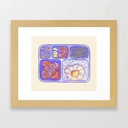 Lunch box Framed Art Print