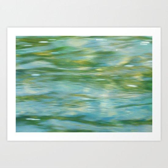 Where The River Runs Art Print