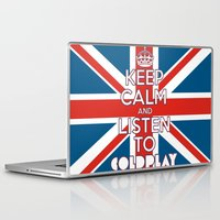"coldplay Laptop & iPad Skins featuring ""Keep Calm and Listen to Coldplay""-Union Jack by Fabfari"