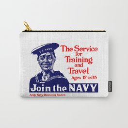 Join The Navy -- World War I Carry-All Pouch