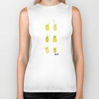 pineapples Biker Tanks featuring Pineapples by Kristan Kremer
