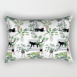 cats in the interior pattern Rectangular Pillow