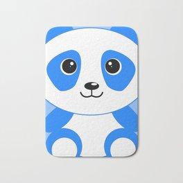 Blue Panda Art Cute Kids Bedroom Decor Bath Mat