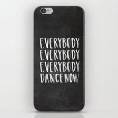 Everybody Dance Now Chalkboard iPhone & iPod Skin