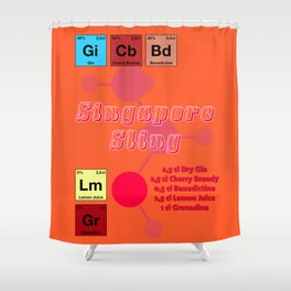 Singapore Sling Shower Curtain