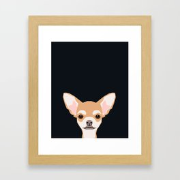 Misha - Chihuahua art print phone case gift for dog owner and dog people Framed Art Print