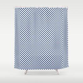 Surf the Web Polka Dots Shower Curtain