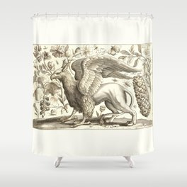 Griffin 1607 Nature Illustration Shower Curtain