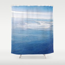 Hovering over the Alps Shower Curtain