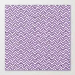 Modern ultraviolet white zigzag chevron pattern Canvas Print