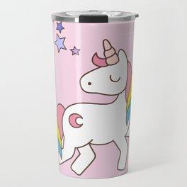 Keep calm and be a Unicorn Travel Mug