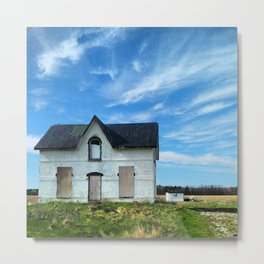 Lonely house in a magnificent place.  Metal Print