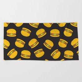 Burger Pattern  Everett co Beach Towel