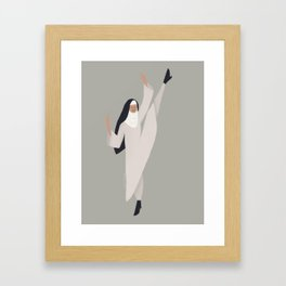 Spring Nun 5 Framed Art Print