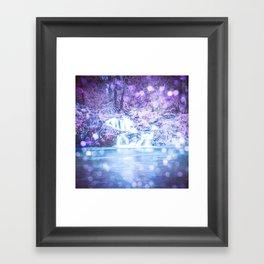 Mermaid Waterfall Framed Art Print