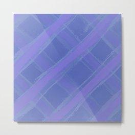 Purple Plaid Metal Print