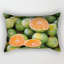 Green Mandarines Rectangular Pillow