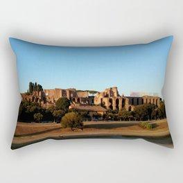 Roman ruin in Rome photography Rectangular Pillow