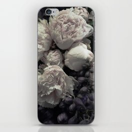 Peonies pale pink and white floral bunch iPhone Skin