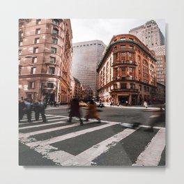 New York City Street Theatre Metal Print
