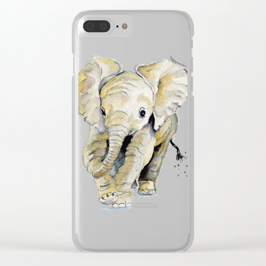 Baby Elephant Clear iPhone Case