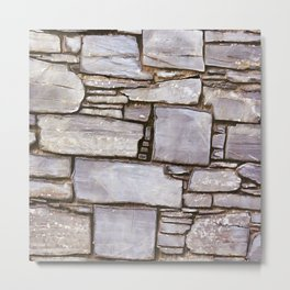 Rock Wall Metal Print