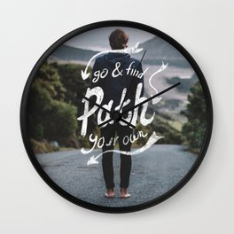 Go & Find your own path Wall Clock