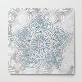 Floral Mandalas Metal Print