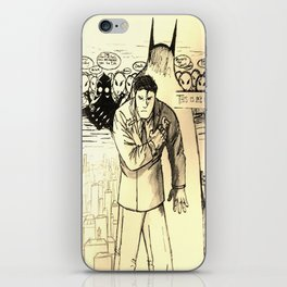 A Bat Between the Owls and His City iPhone Skin