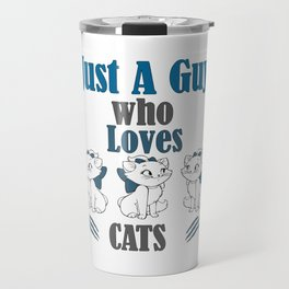 For Men - Cats and Dogs Books Cake Coffee Kittens Music Wine Kitten Lover Meow Travel Mug
