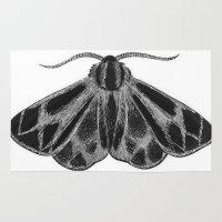 moth Area & Throw Rugs featuring Moth by Rowan Weir