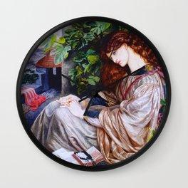 "Dante Gabriel Rossetti ""Pia de Tolomei"" Wall Clock"