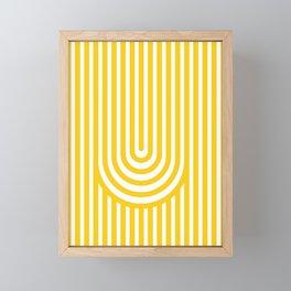 U, Framed Mini Art Print