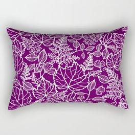 Plum Maple Leaves Rectangular Pillow