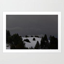 foggy landscape Art Print