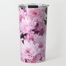 A Sea of Light Pink Chrysanthemums #1 #floral #art #Society6 Travel Mug